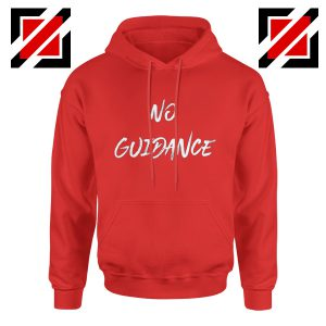 Chris Brown Hoodie No Guidance Christmas Hoodie Gift for Her Red