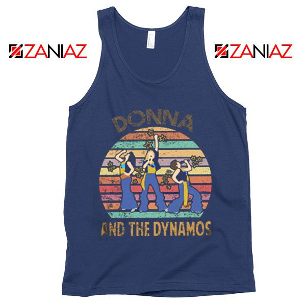 Donna And The Dynamos Tank Top Music Fan Tank Top Gift Music Navy Blue