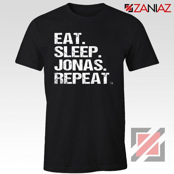 Eat Sleep Jonas Repeat T-shirt Funny Jobros Tees Unisex Adult Black