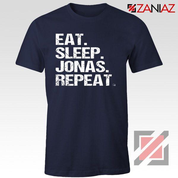 Eat Sleep Jonas Repeat T-shirt Funny Jobros Tees Unisex Adult Navy Blue