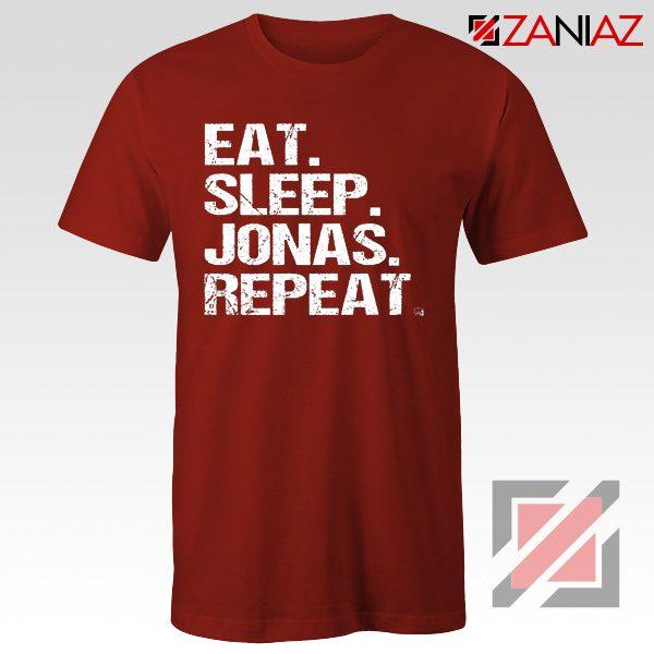 Eat Sleep Jonas Repeat T-shirt Funny Jobros Tees Unisex Adult Red