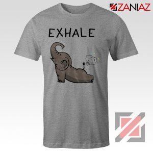 Elephant Exhale T-shirt Funny Animal Shirt Funny Elephant Exhale T-shirt Sport Grey