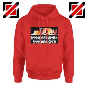 Empower Women Hoodie Girl Power Best Hoodie Size S-2XL Red