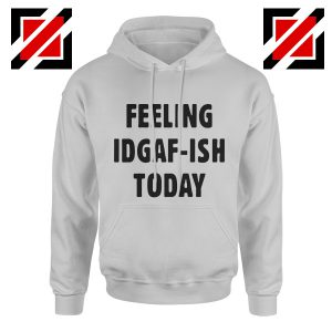 Feeling IDGAF Today Funny Unisex Hoodies Women Offensive Hoodie Sport Grey