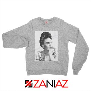 Frida Kahlo Woman Sweatshirt Mexican Christmas Sweatshirt Grey