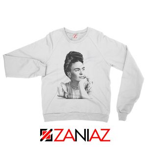 Frida Kahlo Woman Sweatshirt Mexican Christmas Sweatshirt White