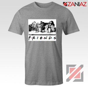 Friends Shirt Horror Killer Movie Halloween T-shirt Unisex Adult Grey