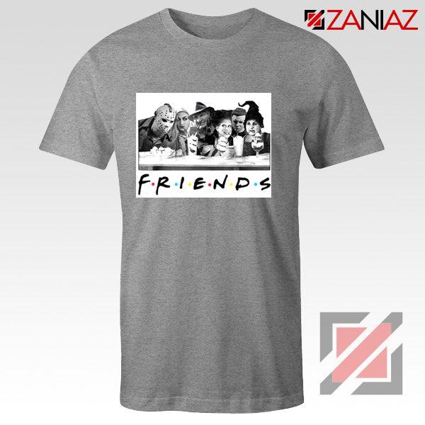Friends Shirt Horror Killer Movie Halloween T-shirt Unisex Adult Grey