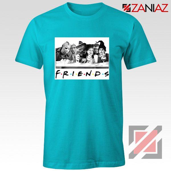 Friends Shirt Horror Killer Movie Halloween T-shirt Unisex Adult Light Blue