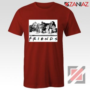 Friends Shirt Horror Killer Movie Halloween T-shirt Unisex Adult Red
