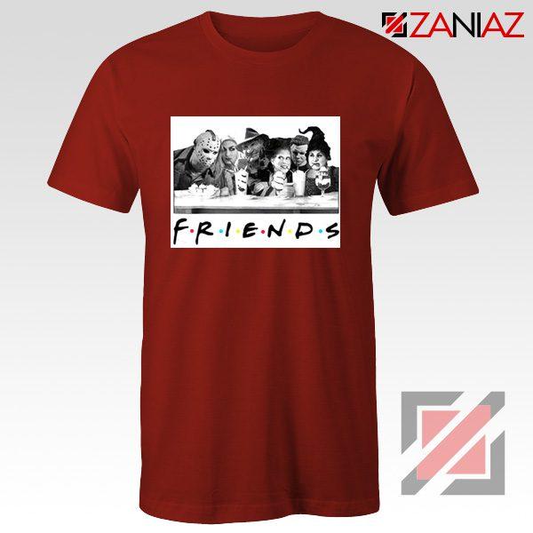 Friends Shirt Horror Killer Movie Halloween T-shirt Unisex Adult Red