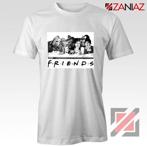 Friends Shirt Horror Killer Movie Halloween T-shirt Unisex Adult White