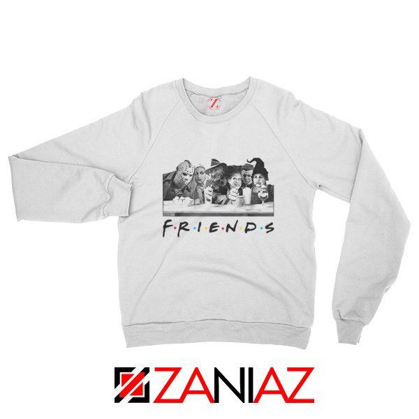 Friends Sweatshirt Horror Killer Movie Halloween Sweatshirt White