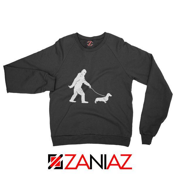 Funny Dachshund Bigfoot Sweatshirt Dachshund Sweatshirt Cute Gift Black