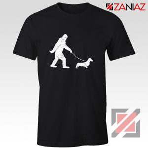 Funny Dachshund Shirt Dachshund Bigfoot T-shirt Cute Dachshund Gift Black