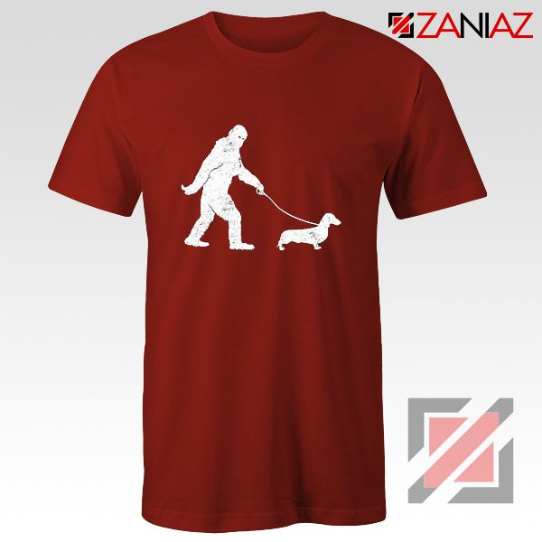 Funny Dachshund Shirt Dachshund Bigfoot T-shirt Cute Dachshund Gift Red