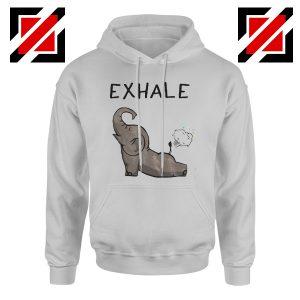 Funny Elephant Hoodie Animal Christmas Gift Hoodie Grey