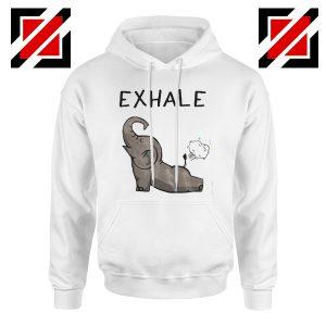Funny Elephant Hoodie Animal Christmas Gift Hoodie White