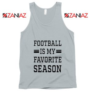 Game Day Tank Top Cute Football Tank Top Summer Gifts for Him Sport Grey