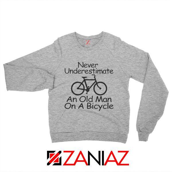 Gifts Men's Birthday Sweatshirt Cycling Cheap Sweater Old Man Grey