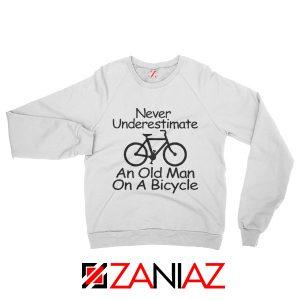 Gifts Men's Birthday Sweatshirt Cycling Cheap Sweater Old Man White