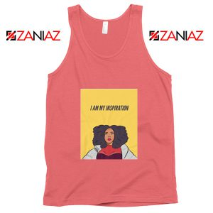 I Am My Inspiration Best Tank Top Lizzo American Songwriter Coral