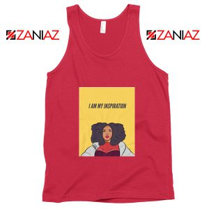 I Am My Inspiration Best Tank Top Lizzo American Songwriter Red