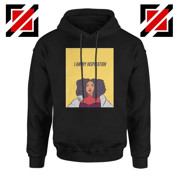 I Am My Inspiration Hoodie Lizzo American Rapper Best Hoodie Black