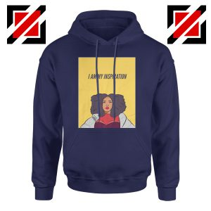 I Am My Inspiration Hoodie Lizzo American Rapper Best Hoodie Navy