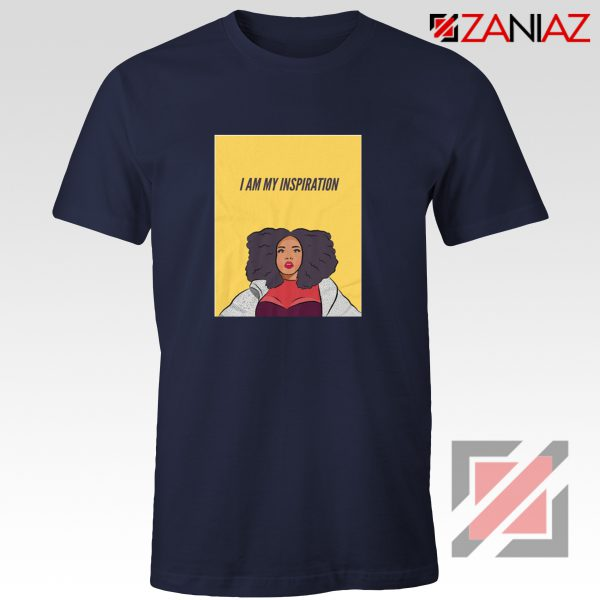 I Am My Inspiration Shirt Lizzo American Actress Best Shirt Navy Blue
