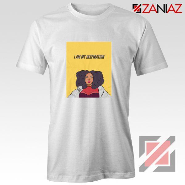 I Am My Inspiration Shirt Lizzo American Actress Best Shirt White
