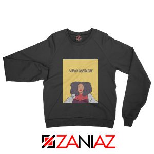I Am My Inspiration Sweatshirt Lizzo American Singer Sweatshirt Black