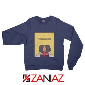 I Am My Inspiration Sweatshirt Lizzo American Singer Sweatshirt Navy