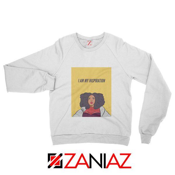 I Am My Inspiration Sweatshirt Lizzo American Singer Sweatshirt White
