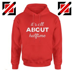 It's All About Halftime Hoodie Cute Band Mom Gift Hoodie Red