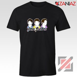 Jonas Brothers T-Shirt Music Band Birthday Gifts Tees Black