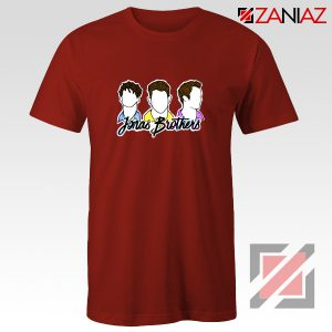 Jonas Brothers T-Shirt Music Band Birthday Gifts Tees Red