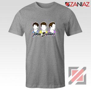 Jonas Brothers T-Shirt Music Band Birthday Gifts Tees Sport Grey