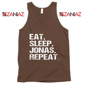 Jonas Brothers Tank Top Eat Sleep Jonas Repeat Jonas Tank Top Brown