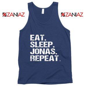 Jonas Brothers Tank Top Eat Sleep Jonas Repeat Jonas Tank Top Navy Blue