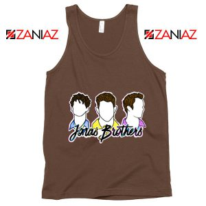 Jonas Brothers Tank Top Music Band Birthday Gifts Tank Top Brown