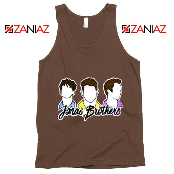 Jonas Brothers Tank Top Music Band Birthday Gifts Tank Top Brown