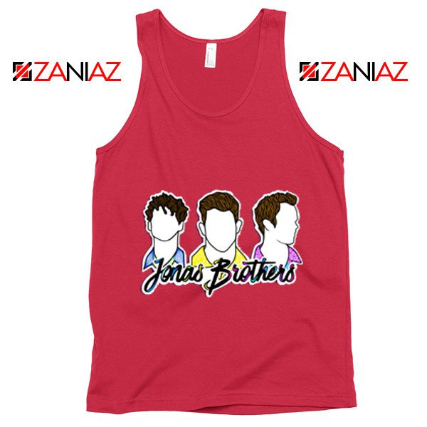 Jonas Brothers Tank Top Music Band Birthday Gifts Tank Top Coral