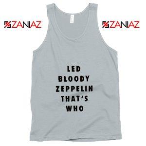 Led Zeppelin Tank Top Rock Band Musician Best Tank Top Grey