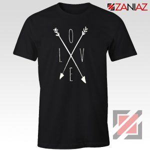 Love Cross Arrows T Shirt Gift Valentines Day Shirts With Love Black