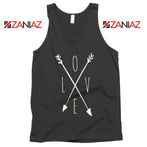 Love Cross Arrows Tank Top Gift Valentines Day Tank Top With Love Black