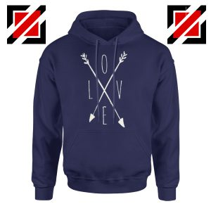 Love Cross Arrows Valentines Day Hoodies Gift Hoodies With Love Navy Blue