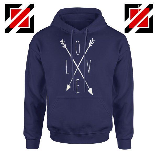 Love Cross Arrows Valentines Day Hoodies Gift Hoodies With Love Navy Blue