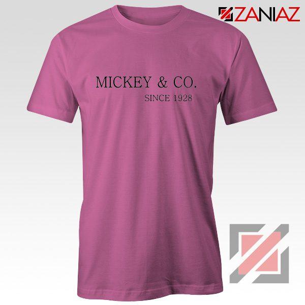 Mickey And Co. Since 1928 Shirt Walt Disney Shirt Size S-3XL Pink