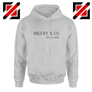 Mickey Mouse Hoodie Mickey And Co Since 1928 Size S-2XL Grey